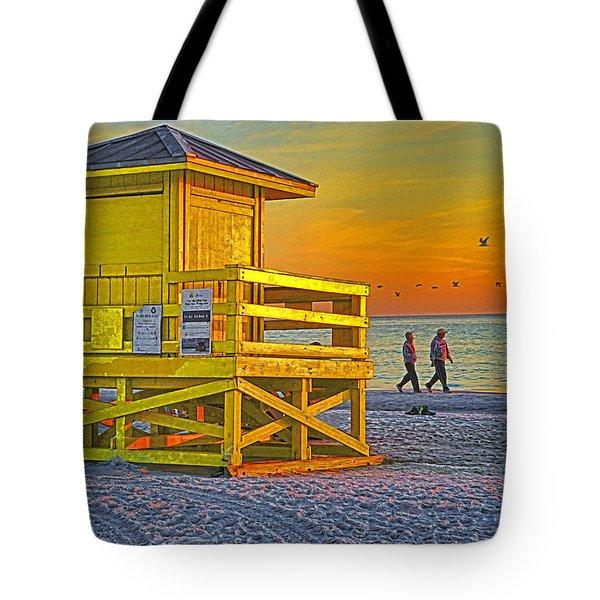 Siesta Key Sunset Tote Bag by Dennis Cox WorldViews