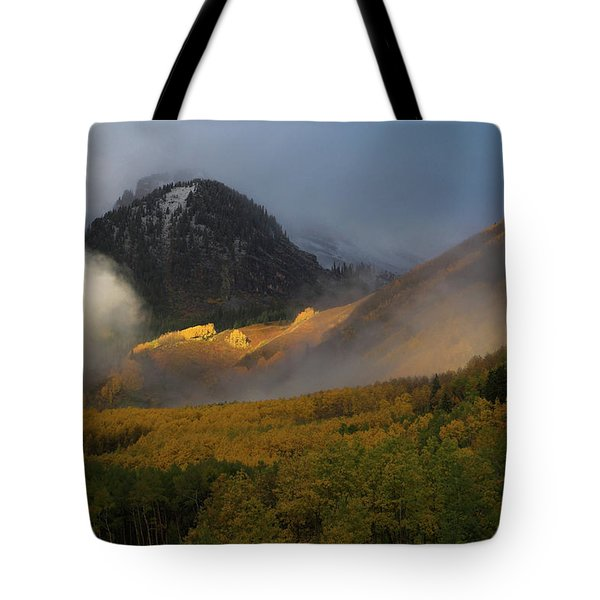 Tote Bag featuring the photograph Siever's Mountain by Steve Stuller