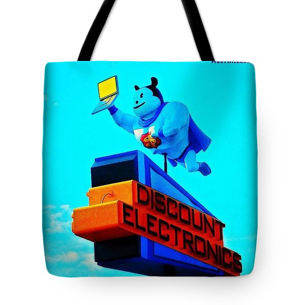 #sign #weirdness In #myhometown Tote Bag