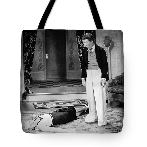 Silent Film Still: Fainting Tote Bag by Granger