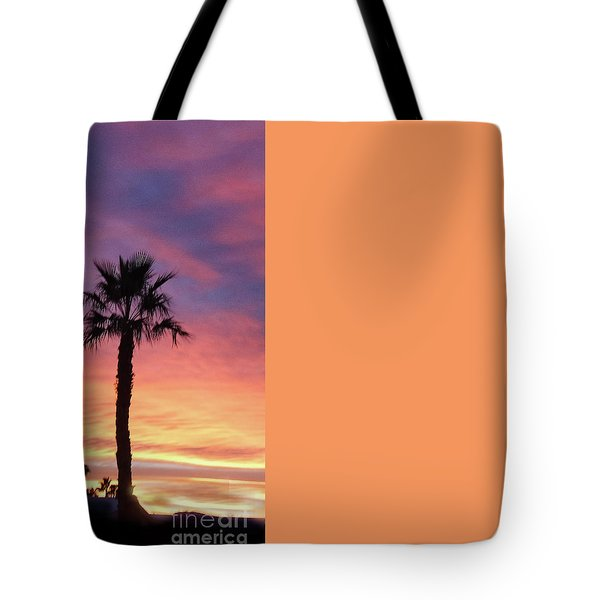Silhouetted Palm Trees Tote Bag by Robert Bales