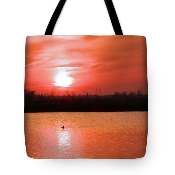 Silky Sunset Tote Bag