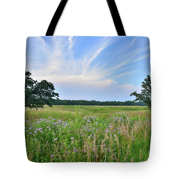 Silver Creek Conservation Area Sunset Tote Bag