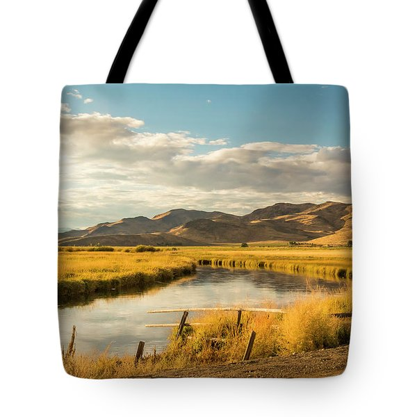 Tote Bag featuring the photograph Silver Creek by Mark Mille