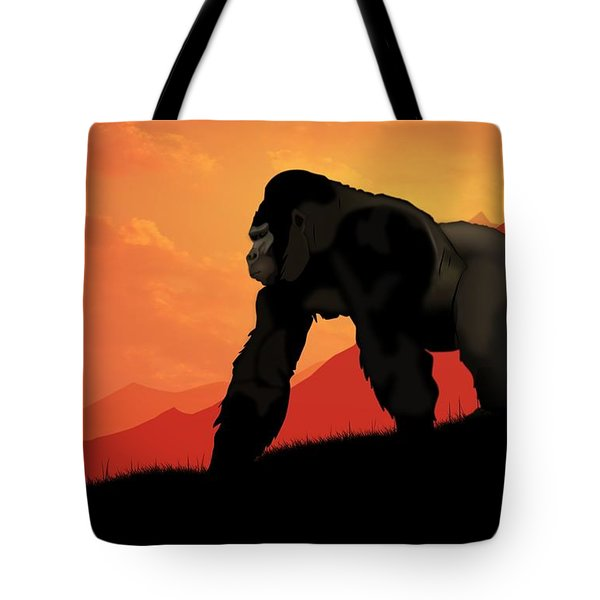 Tote Bag featuring the digital art Silverback Gorilla by John Wills