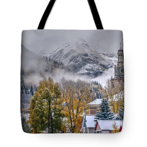 Silverton Colorado Tote Bag by Charlotte Schafer