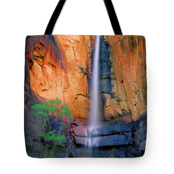 Sinawava Falls Tote Bag
