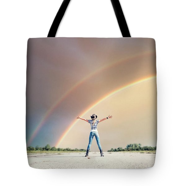 Sing Me A Rainbow Tote Bag