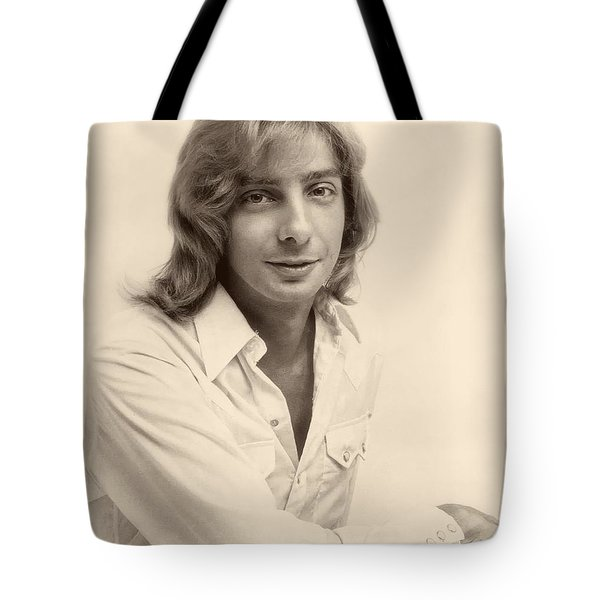 Singer Barry Manilow 1975 Tote Bag