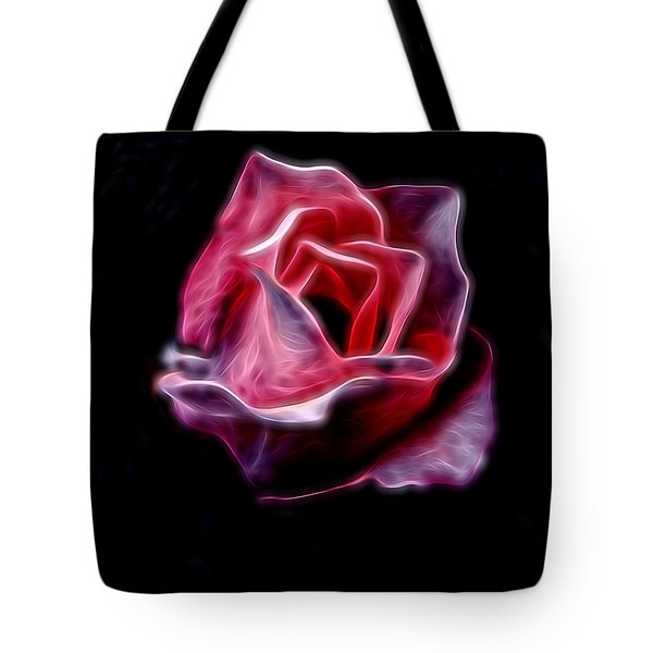 Single Pink Rose Tote Bag