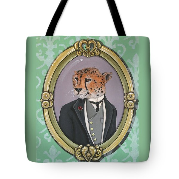 Tote Bag featuring the painting Sir Pettingwise IIi by Jude Labuszewski