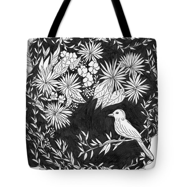 Tote Bag featuring the painting Sitting Pretty by Lou Belcher