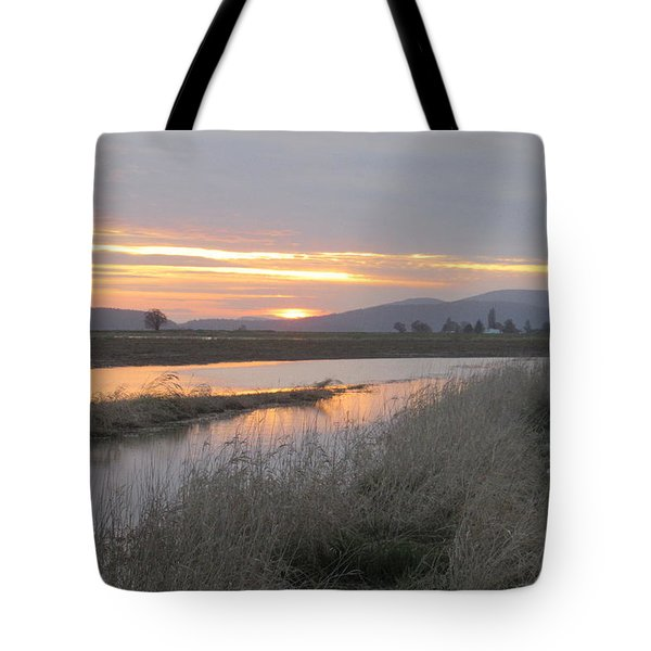 Skagit County Sunset Tote Bag