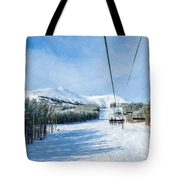 Ski Day Tote Bag