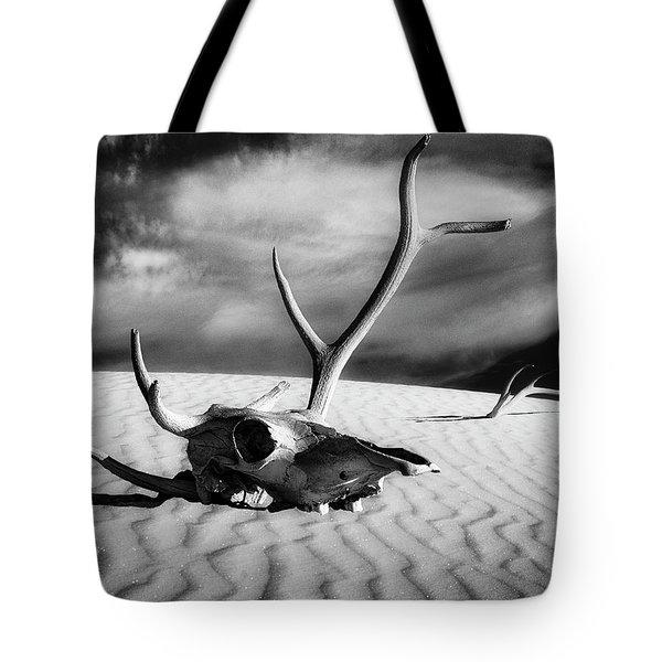 Skull And Antlers Tote Bag