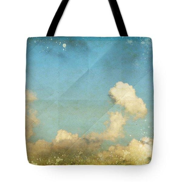 Sky And Cloud On Old Grunge Paper Tote Bag by Setsiri Silapasuwanchai