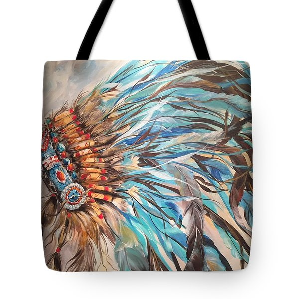 Sky Feather Tote Bag