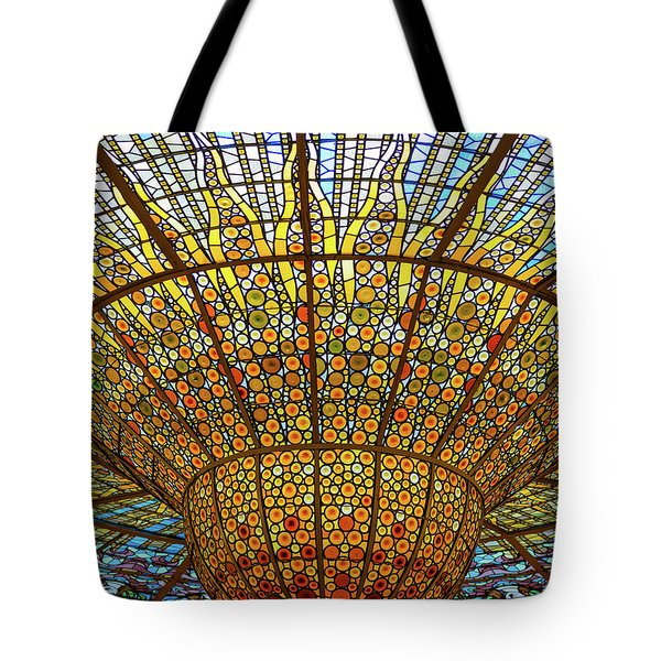 Skylight In Palace Of Catalan Music  Tote Bag