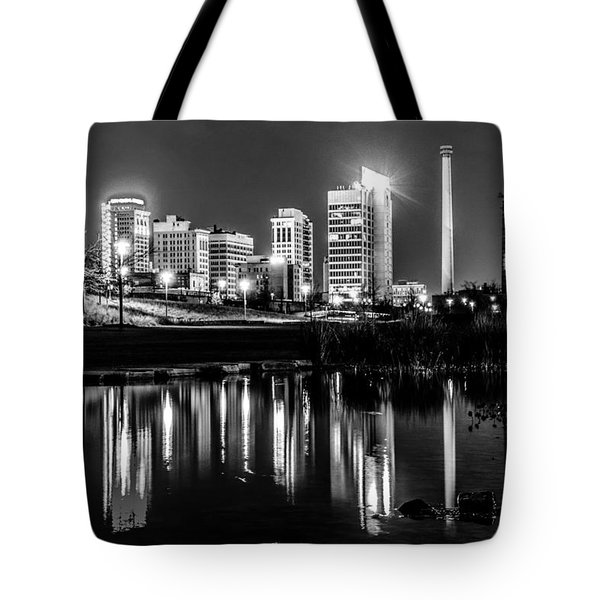 Skyline Of Birmingham Alabama From Railroad Park Tote Bag