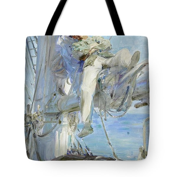 Sleeping Sailor Tote Bag by Henry Scott Tuke