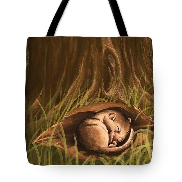 Tote Bag featuring the painting Sleeping  by Veronica Minozzi