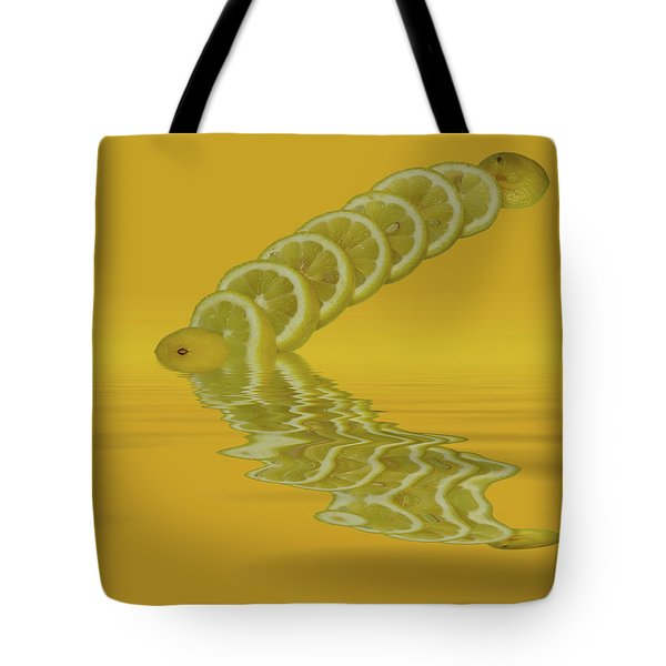 Tote Bag featuring the photograph Slices Lemon Citrus Fruit by David French