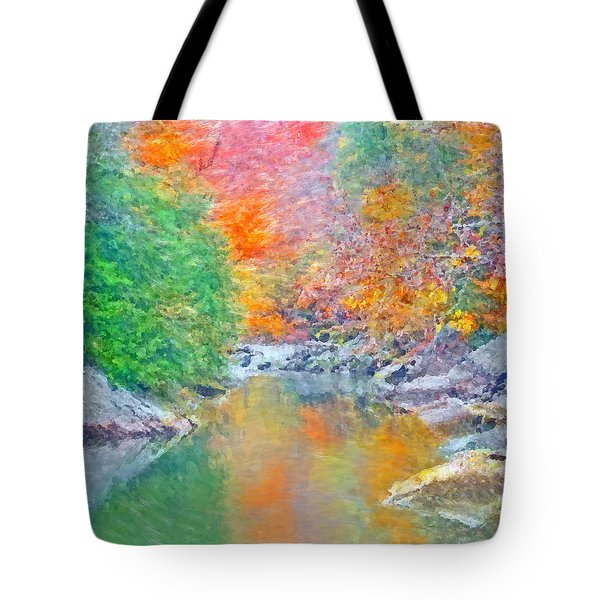 Slippery Rock Creek In Autumn Tote Bag