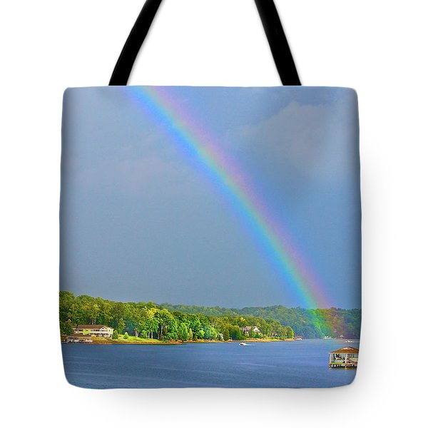 Smith Mountain Lake Rainbow Tote Bag