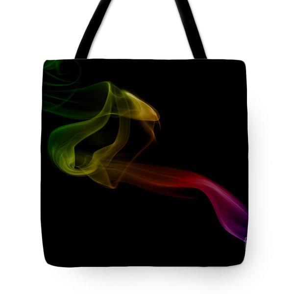 Tote Bag featuring the photograph smoke XXV by Joerg Lingnau