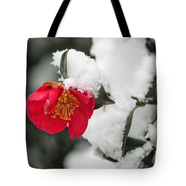 Snow Bloom Tote Bag by Suzanne Gaff