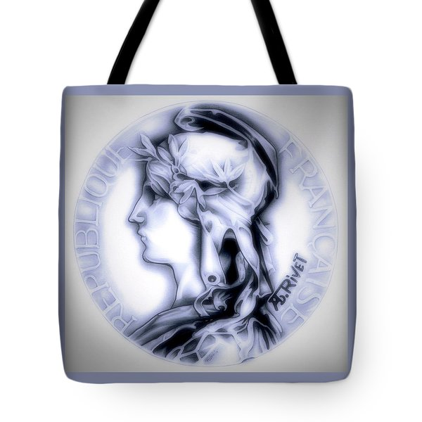 Snowflake 1896 Indochina Tote Bag by Fred Larucci