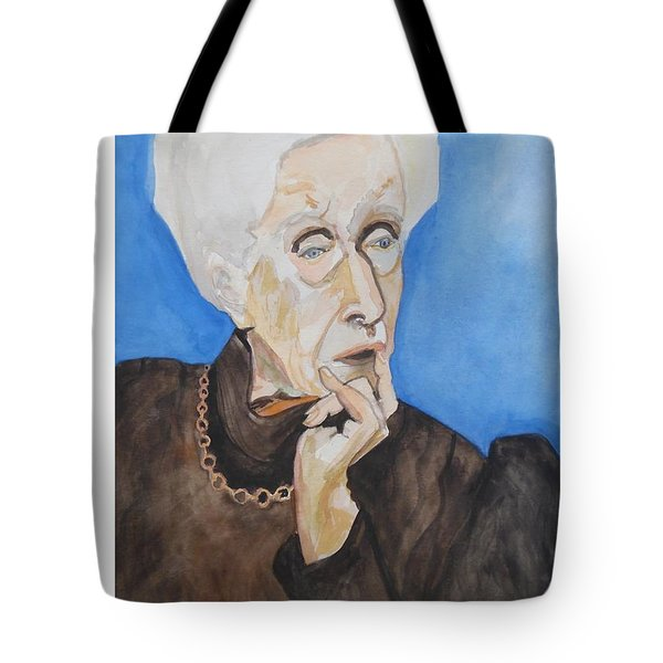 Tote Bag featuring the painting So Curious by Esther Newman-Cohen