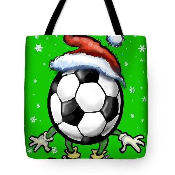 Soccer Christmas Tote Bag by Kevin Middleton