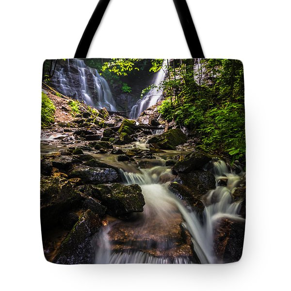 Tote Bag featuring the photograph Soco Falls by Serge Skiba