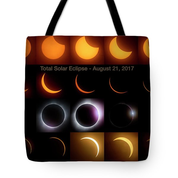 Solar Eclipse - August 21 2017 Tote Bag by Art Whitton