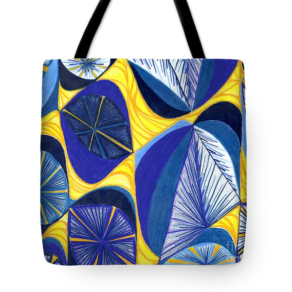 Tote Bag featuring the drawing Solar Rays by Kim Sy Ok