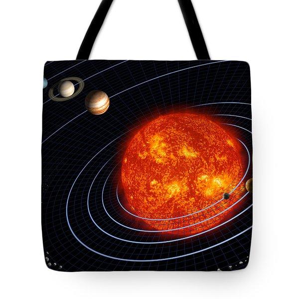Solar System Tote Bag by Stocktrek Images