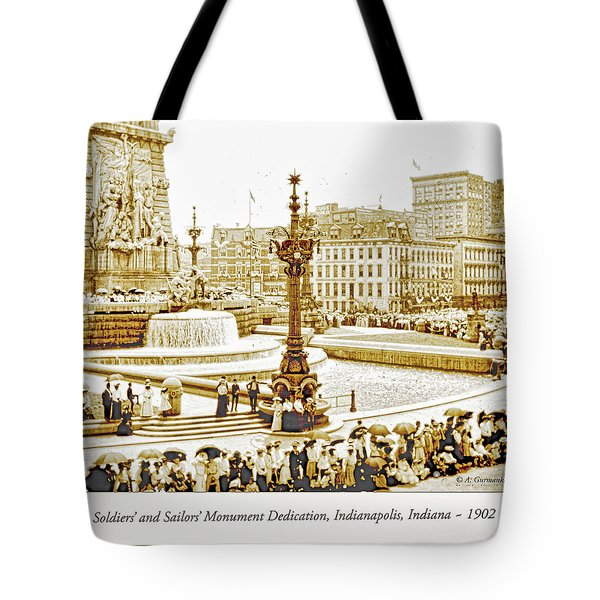 Soldiers' And Sailors' Monument Dedication, Indianapolis, Indian Tote Bag by A Gurmankin