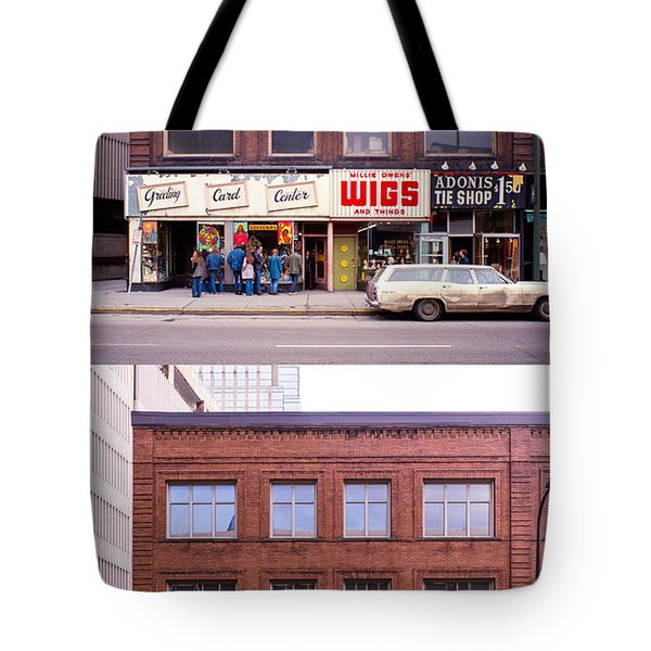 Something's Going On At The Greeting Card Center. Tote Bag