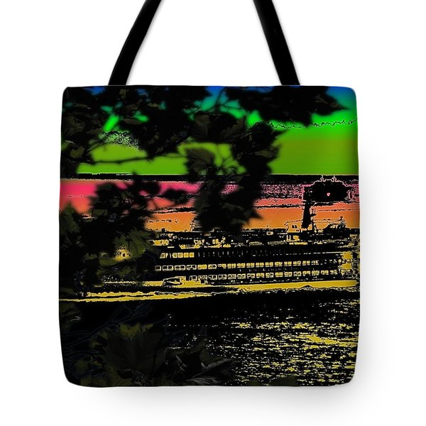 Soundside Treehouse View Tote Bag by Tim Allen