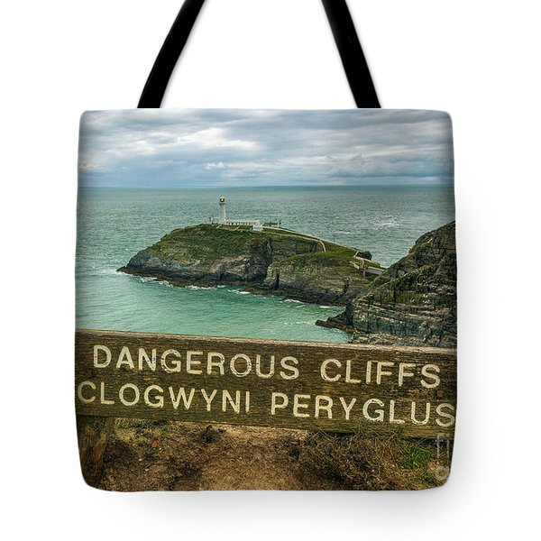 Tote Bag featuring the photograph South Stack Lighthouse by Ian Mitchell