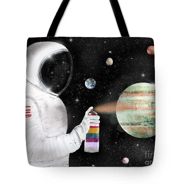 Space Graffiti Tote Bag