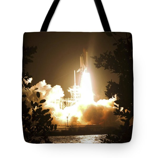 Space Shuttle Endeavour Liftoff Tote Bag by Stocktrek Images