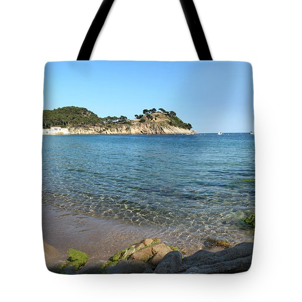 Spanish Beach Seascape Tote Bag by Gregory Dyer