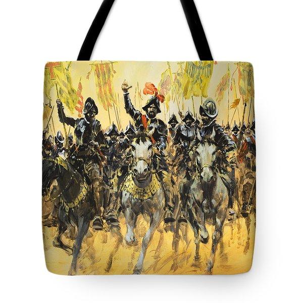 Spanish Conquistadors Tote Bag