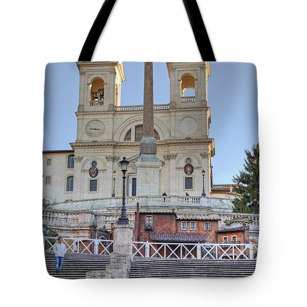 spanish steps in Rome Tote Bag by Joana Kruse