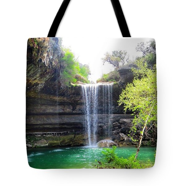 Spent The Day At Hamilton Pool. Yes Tote Bag