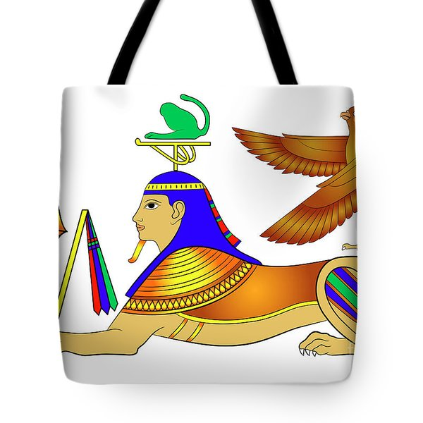 Sphinx - Mythical Creatures Of Ancient Egypt Tote Bag by Michal Boubin