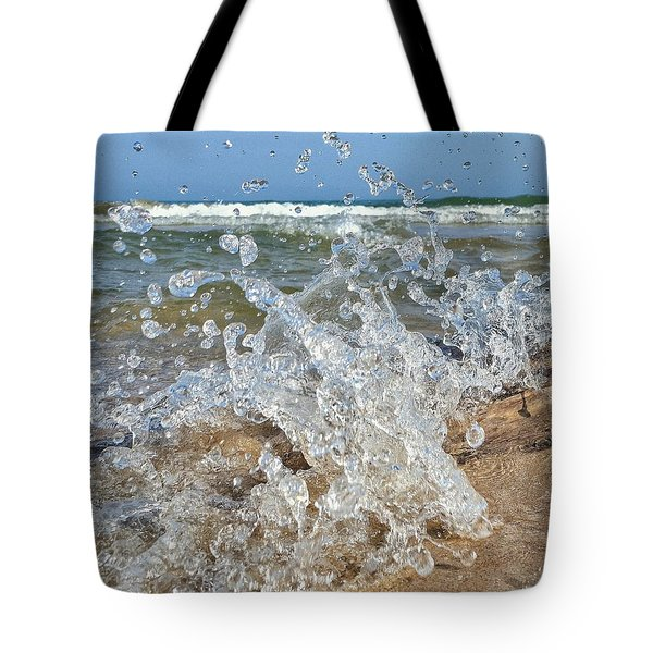 Tote Bag featuring the photograph Splash by Nikki McInnes
