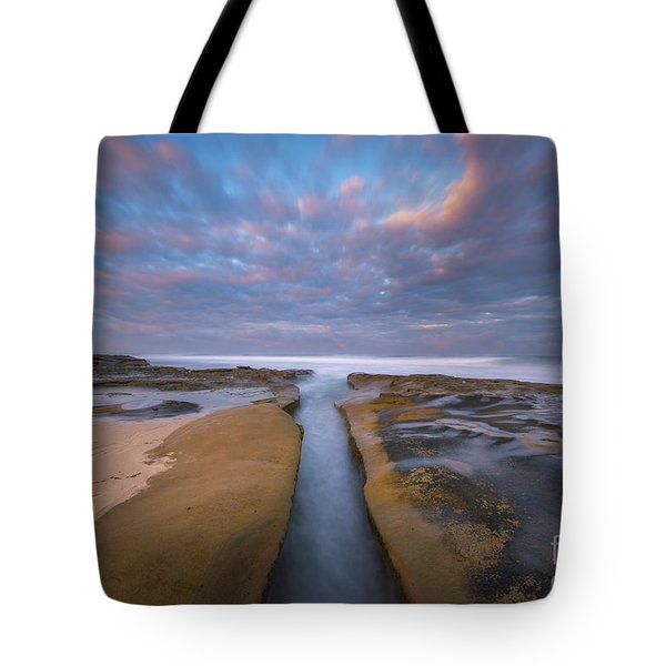 Where Worlds Divide  Tote Bag